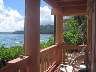 Step out the door and onto the beach!  Romantic upgraded studio.  Views!, Haena