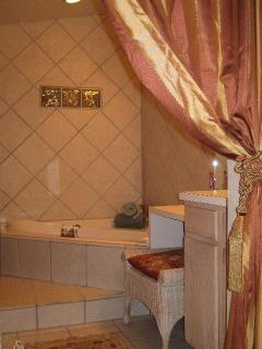 Garden Suite Bath with private Jacuzzi