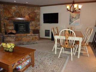 Living Room, dining table and woodburning stove