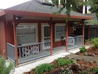 Front Porch with charcoal barbecue