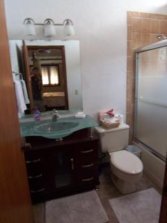 updated bathroom en-suite to poster bed room