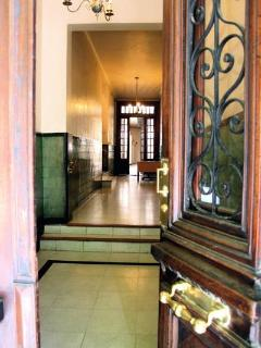 Entryway of 100 year old building - was originally a hotel
