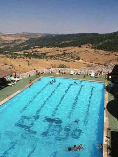 swimming pool in Grazalema July and August