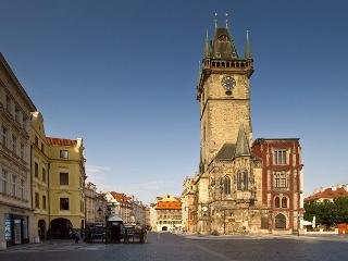 Old Town Square with its famous Prague Astronomical Clock