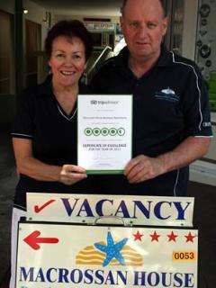 Winner Tripadvisor Excellence Award 2012