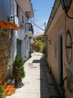 Lefkada Town - a warren of lanes and squares.