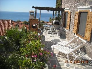 Central Molyvos apartment with panoramic views.