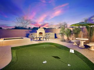 Fun Outdoor Putting Green and Fireplace!
