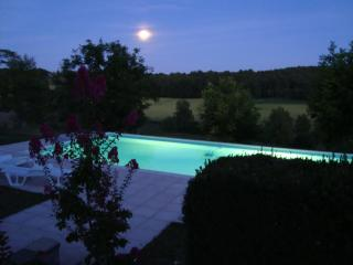 Hilltop Farmhouse with large pool, Grand-Brassac