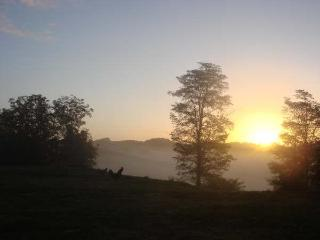 Sunrise over the panoramic view