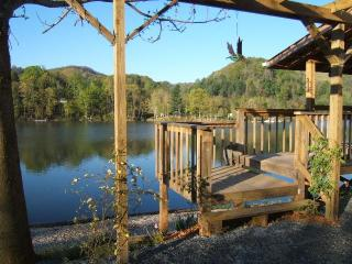 Stay just steps from the water, enjoy views from lakeside Hot Tub. Boat rentals!