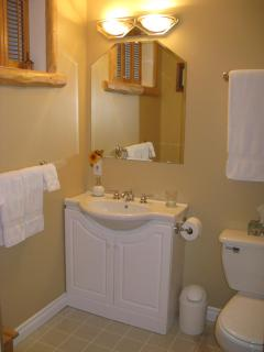 Bathroom 1  with soaker bathtub/shower