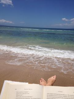 This is owner Heather's toes on the beach. Not a bad view!!