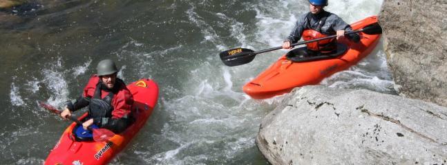 Kayaks 20ft.below rear deck & Hot Tub w/ 4ft. water fall