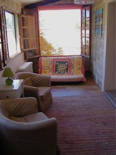 Loggia outside bedrooms