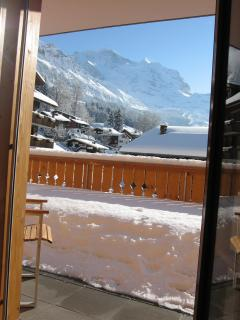 View of Jungfrau from study.