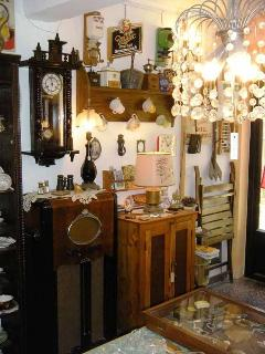 Inside the  Antiques store