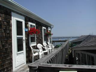 View of the deck outside the room.