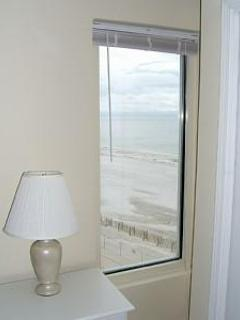 Beach view from Master Bedroom, only in corner units on 4th, 5th, and 6th floors!