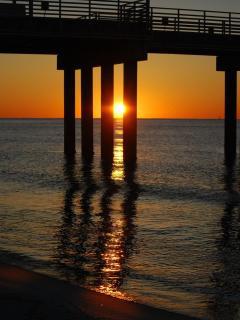 Sunrise under pier