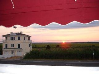 700' to beach and beautiful sunset view of the meadowlands from the front porch too!