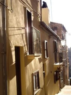 The outside of the townhouse located in the historic centre of Lanciano