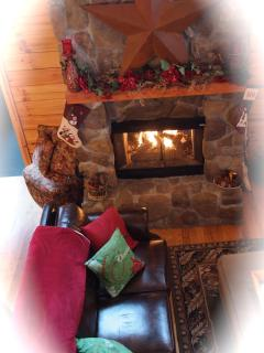 2-sided gas fire place