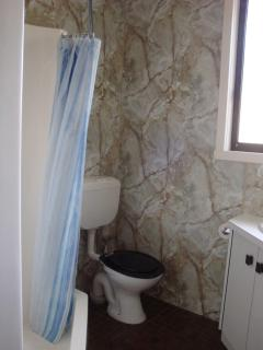 Bathroom with toilet, also separate toilet & separate shower