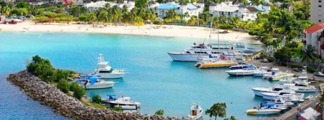 Ocho Rios harbour around the corner