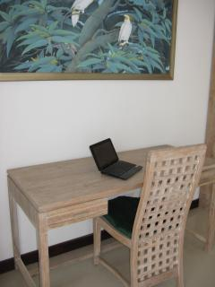 A workdesk and chair in each of the two king suites, for those who just can\'t leave work alone!