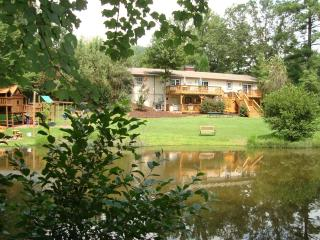White Stone Manor/6BR/4BA/4000SF/Private wildlife pond and streams on 2 acres of lush landscaping