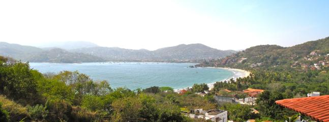 The stunning Bay of Zihuatanejo and Playa La Ropa from our terraces.