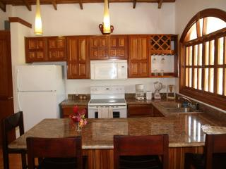 The Apartment kitchens feature granite and beautiful hand crafted cabinets.