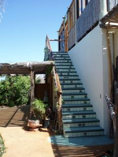 Stairway from Courtyard to Eagles' Nest Casita