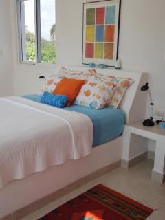 Orange Bedroom (Window Looks to Beach)
