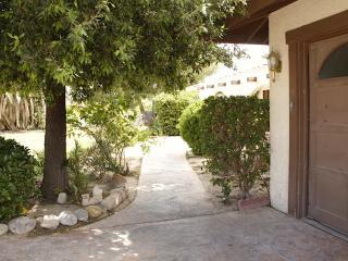 Entrance off driveway