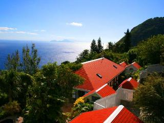 Saba's finest ocean villa, steps from the village, Windwardside
