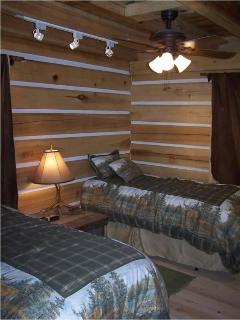 The Deer Room is on the main level and has 2 single beds