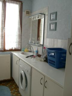 The utility room with shower room and toilet off.