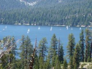 Huntington Lake, a short drive, offers the China Peak Ski Resort for winter fun, summer boating