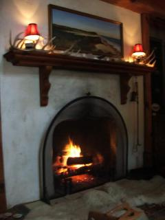 The painting over the fireplace is of Lucy Vincent Beach
