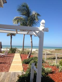 Walk straight to the beach from the private property.