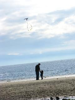 Father and son at Welcome Beach