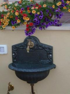 The little fountain on the terrace