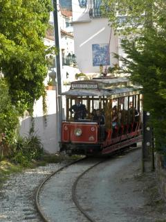 Historical tram connecting Sintra to its beach: Praia das Maças