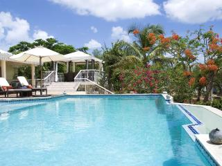 JARDIN CREOLE...  only 360 easy yards to the soft sand of Plum Baie beach!
