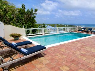 MAJESTIC VIEW...5 BR St Maarten Villa Overlooking captivating Oyster Pond and
