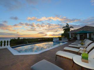 MER SOLEIL...  enjoy beautiful sunset views of the Caribbean , La Samanna Hotel and Baie Long Beach, Terres Basses