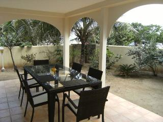 CARIBBEAN RIVIERA #1... beachfront townhome on Orient Beach, contemporary, Orient Bay