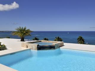 DREAMIN BLUE...  Gorgeous panoramic views from this stunning new villa in secluded, lovely Happy Bay, St. Maarten